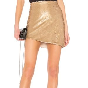 NBD Angel Skirt in gold Sequin. XS